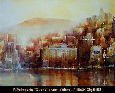 Original multimedium painting on canevas by Roland Palamerts #Palmaerts #art #CanadianArt #originalartwork #mixtmedia #quebecartist #city #contemporaryart #fineart #balcondart #multiartltee
