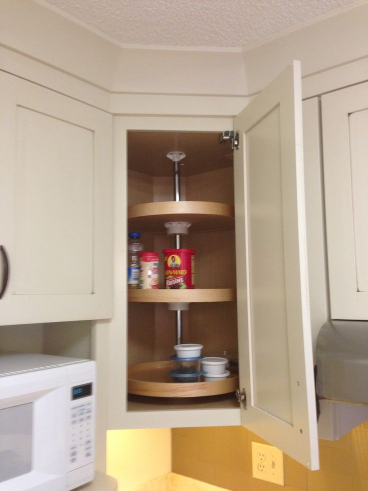 Corner Wall Cabinet Lazy Susan - WoodWorking Projects & Plans