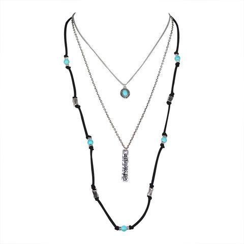 Tibetian Letter Multilayer Boho Necklace