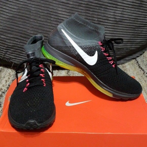 NIKE ZOOM ALL OUT FLYKNIT Black Running Shoes Trainers Women