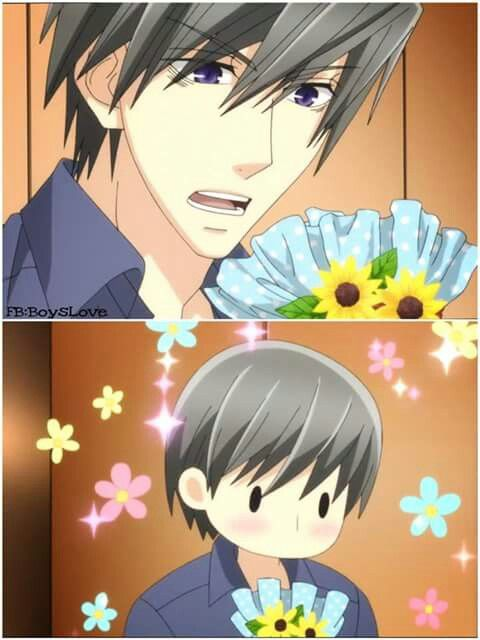 My first time seeing him blush ... then again It was the first time he ever blushed ... Usami Akihiko
