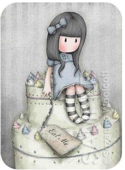 The Sweet Cake by gorjuss.deviantart.com