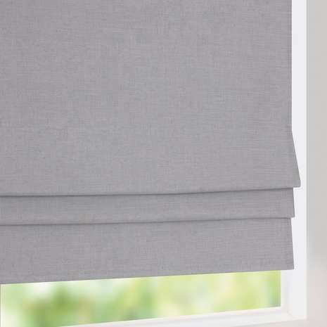 Dunelm blinds- Fabricated with a linen blend, these grey roman blinds include blackout lining to reduce unwanted external light, available in a choice of sizes to fit your win...