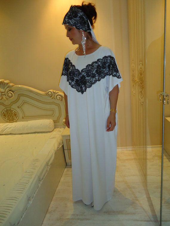 Dubai Kaftan Lace Abaya Oversized Dress Maxi Party Dress +HEAD SCARF. THIS  MODEL CAN