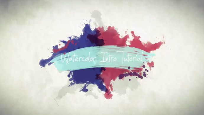 After Effects – Creating Animated Watercolor and Paint Elements Intro Tutorial