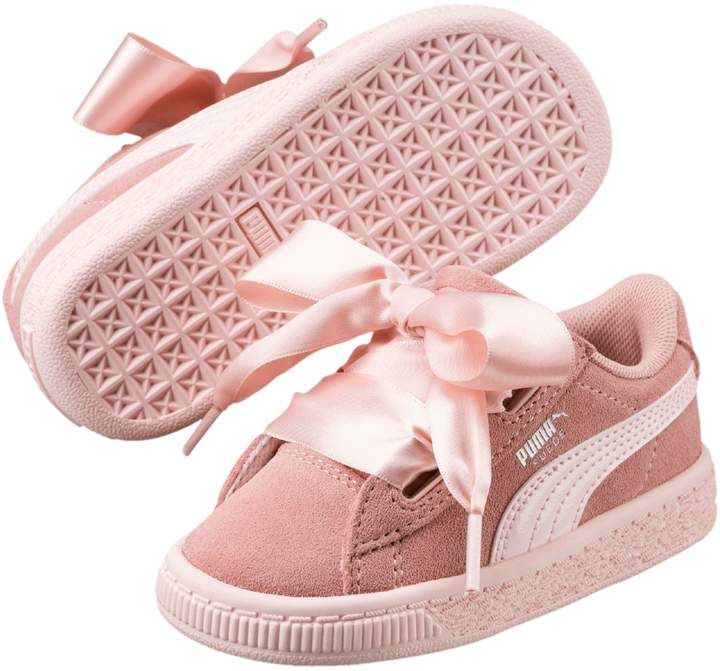 Suede Heart Jewel Little Kids' Shoes | Cute baby shoes, Baby