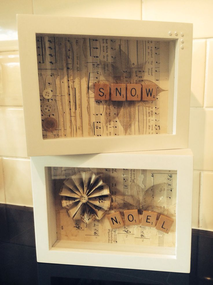 Christmas ideas and frames: Buy old scrabble games from GoodWill/Frames from Dollar store.