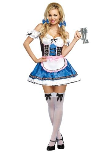 This womens Happy New Beer costume will transform you into the cutest German beer girl around!