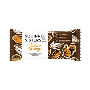 Squirrel Sisters Raw Energy Bar Cacao Orange