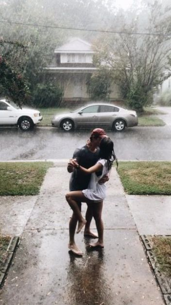 rain | kiss | love | couple | romance