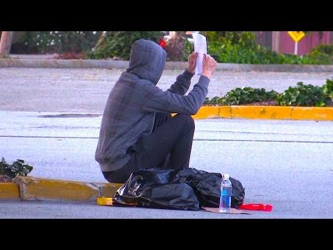 This homeless man did an impressive thing during a social experiment