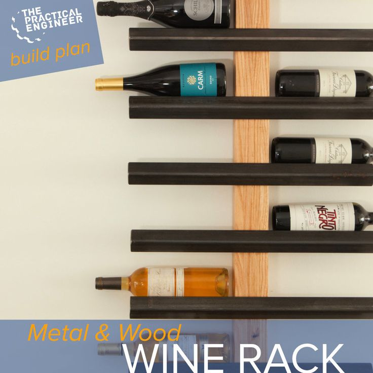 DIY Woodworking Ideas Beautiful metal and wood wine rack plans. Easy to make!