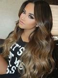 Glue in Hair Extensions Ombre Balayage Extensions(#1b #6 #27)
