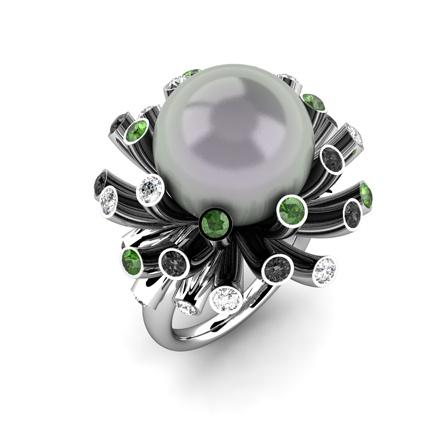 'Celebration' South Sea pearl ring by Cellini