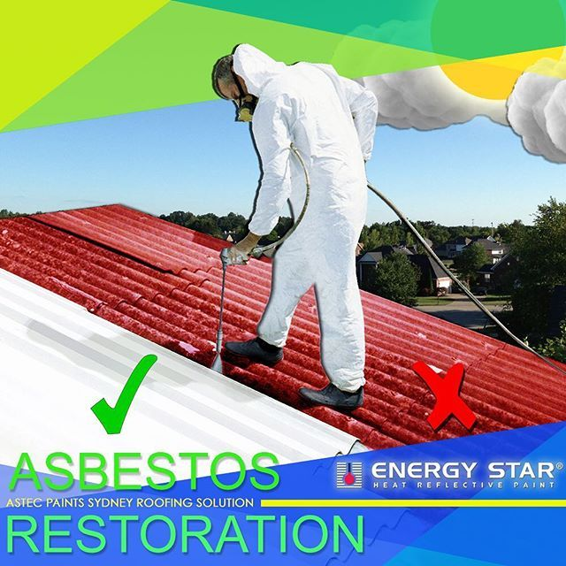 Why replace your asbestos roof, when you can restore at a fraction of the cost. With Astec Paints complete asbestos roof restoration you benefit from a 10 year warranty, a product that has a flawless 26 year performance history, a fraction of the cost of replacement, Heat reflective properties that absorbs 50% of heat, and it's safe, Durable and waterproof. To find out more head over to our website www.astecpaintssydney.com.au or give us a call today on (02) 9517 9001  #great #asbestos…