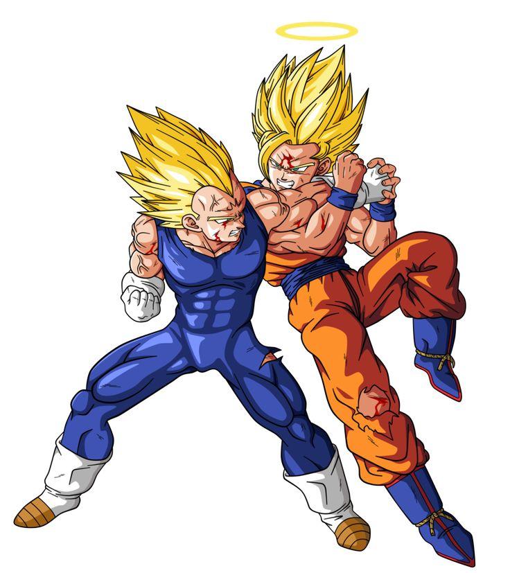 Goku VS Majin Vegeta by BardockSonic