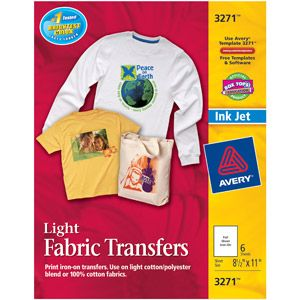 Avery T-shirt Transfers for Inkjet Printers 3271, 6-Pack. Available at Walmart. Great for use with the Microsoft Word t-shirt designs tutorial found on another pin on this page.
