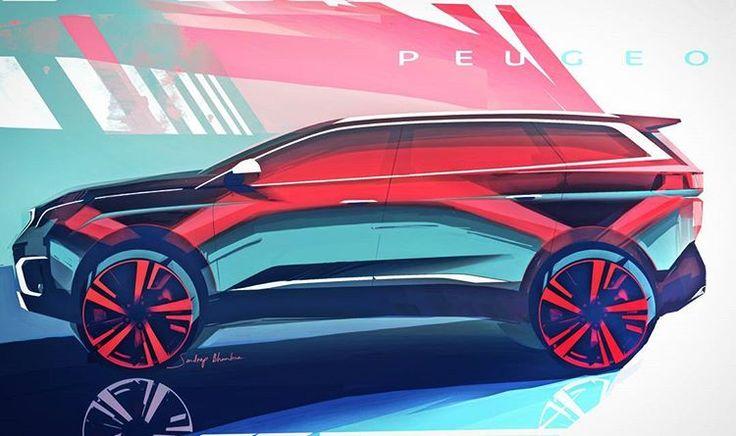A colorful sketch for the new PEUGEOT 5008 revealed today - design by Sandeep Bhambra #peugeot #peugeot5008 #new5008 #newpeugeot5008 #peugeotdesign #cardesign #design #automotivedesign #suv #newsuv #quartz #peugeotquartz #instacars #designsketch #sketch #sketches #drawing #illustration