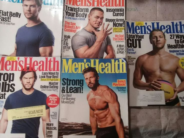 MENS HEALTH MAGAZINE - Lot of 5  May 2016 to Sept 2016 & Dec 2016  VGC