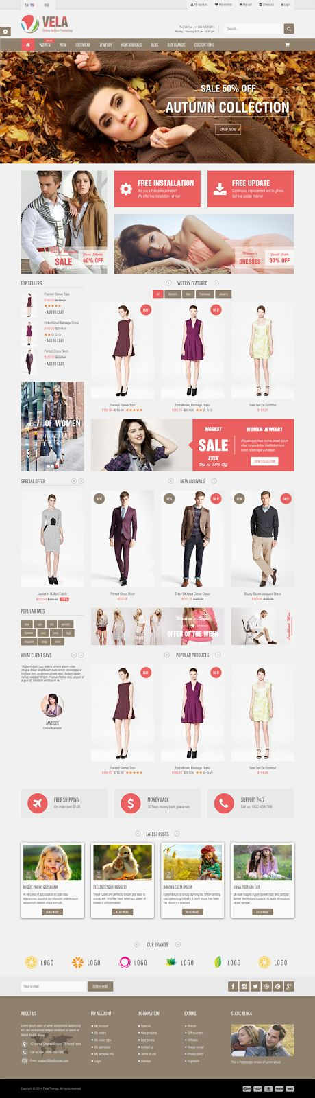 Best Responsive Premium #Clothes Store Theme #eCommerce #fashion #store #Prestashop