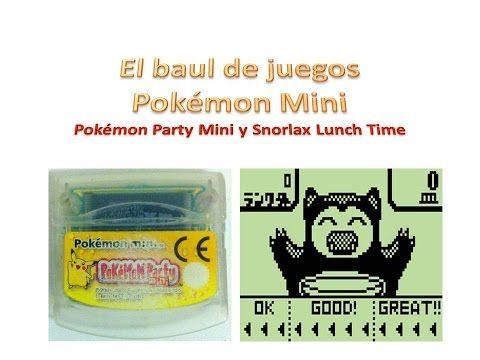 Pokémon Party Mini y Snorlax Lunch Time El baúl de juegos Pokémon Mini