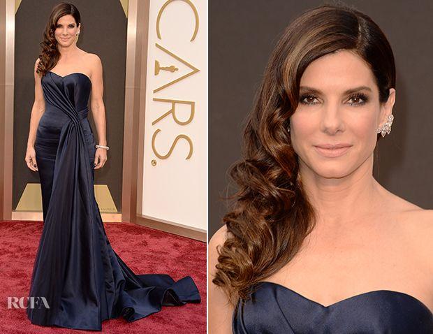 Sandra Bullock In Alexander McQueen – Oscars 2014