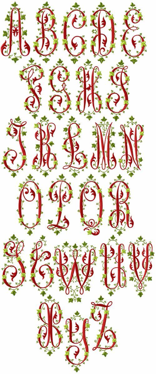 Victoriana Machine Embroidery Font