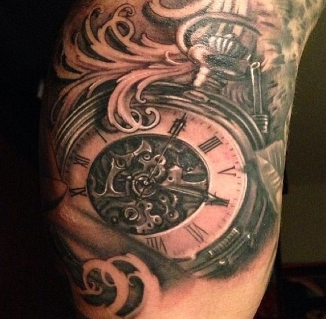 Tattoo Self Expression Quotes: Pocket Watch Tattoo