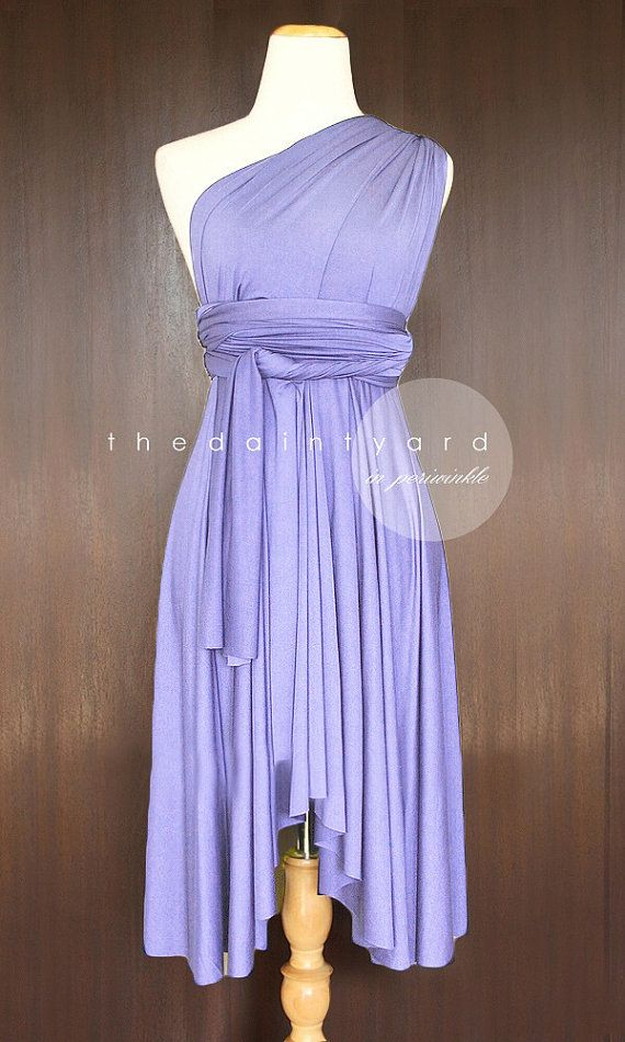 Periwinkle Bridesmaid Convertible Dress Infinity Multiway Wrap Dress Wedding Prom
