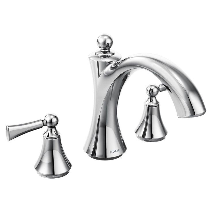 Moen Wynford Chrome Two-Handle Non Diverter Roman Tub Faucet - MT653