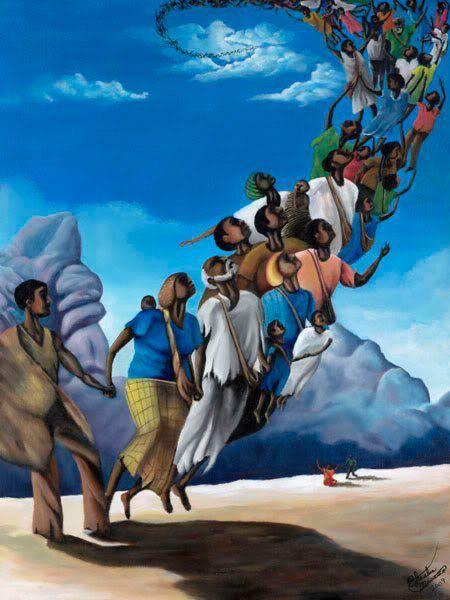 Inspirational Black Art : Black art freedom at last heaven bound pinterest