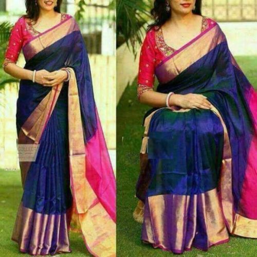 Details About New 100 Uppada Pure Silk Saree Handloom Indian Tissue