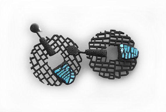 Ohrringe modernes zeitgemäßes Schmuckdesign kostenloser von DeUno