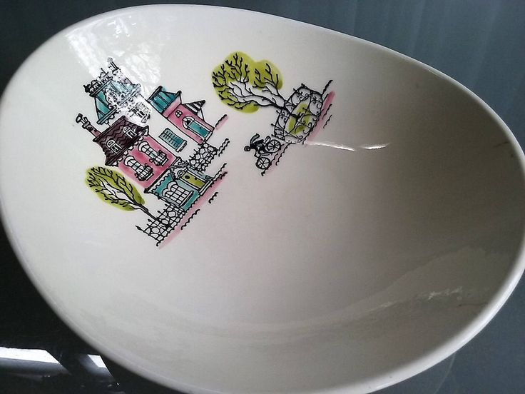 Popular China Patterns Part - 16: Poppytrail Street Scene By Metlox California Vegetable Serving Bowl,  Vintage Serving Bowl, Popular China Pattern, Victorian Houses By  VintageCoolETC On Etsy
