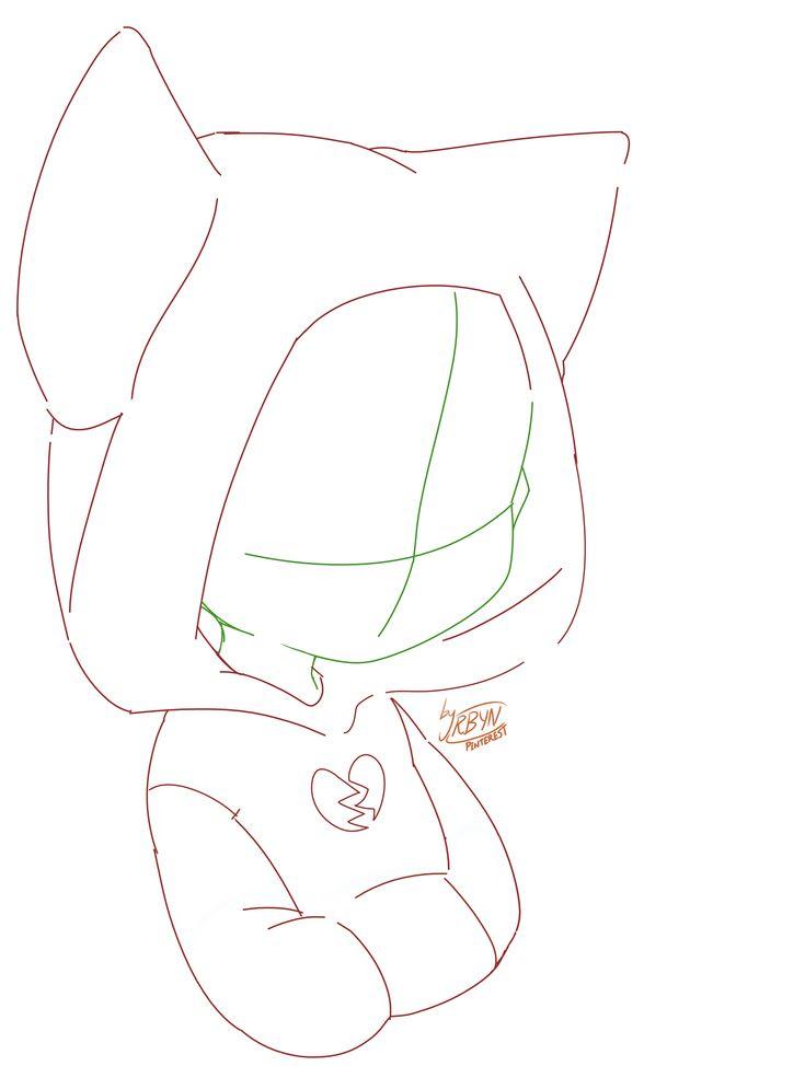 -ORIGINAL BASE- Nekomimi animal ears chibi sketch base! Free to use, make any ch…