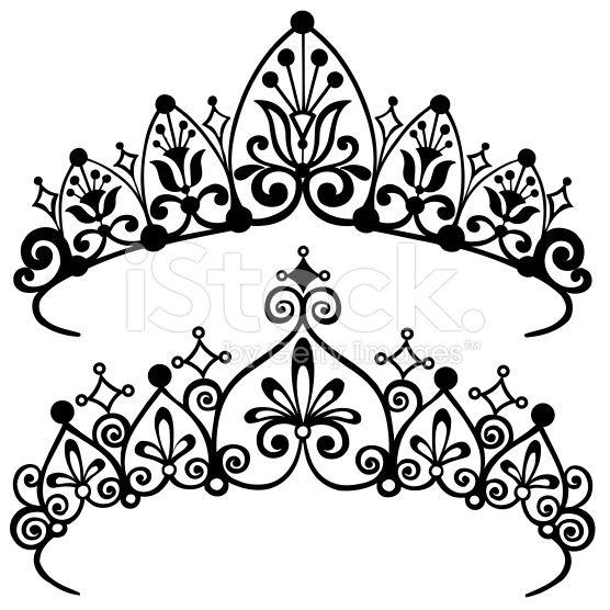 Tiara Drawing Black And White | - 63.1KB