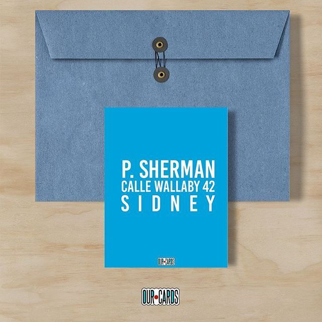 Excelente inicio de semana odiadores de lunes  recuerda que P. Sherman Calle Wallaby 42 Sidney siempre estará para ustedes  #ourcards #cards #type #fun #movie #findingnemo #findingdory #dory #blue #mondaymorning #notborring #goodmorning #buenosdias #talentovenezolano #madeinvzla_ #design #diseñovenezolano #awesome  A LA VENTA!!!