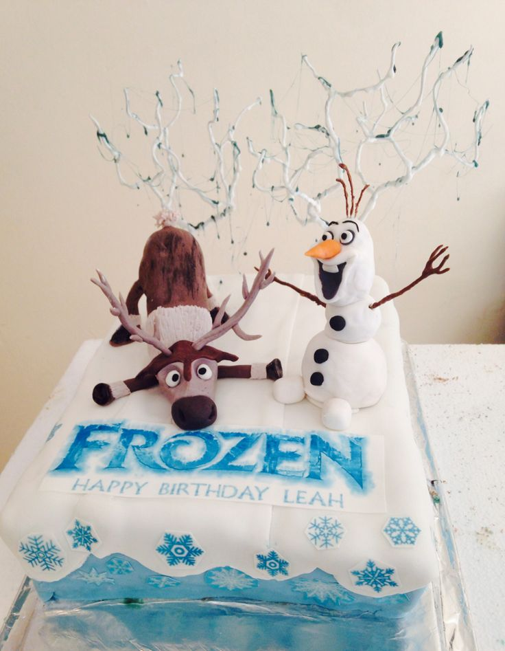 Frozen Movie birthday cake