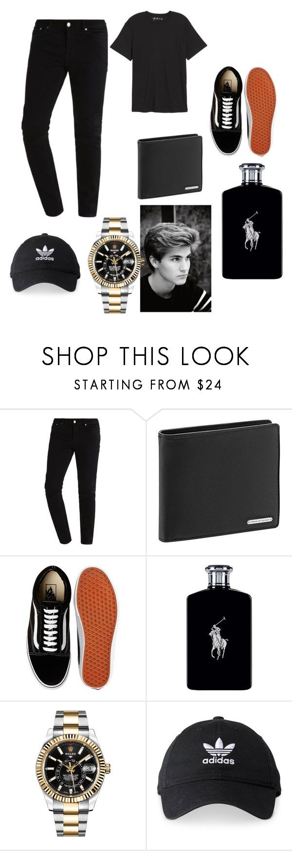 """Untitled #4"" by irelendtyler ❤ liked on Polyvore featuring Porsche Design, Vans, Ralph Lauren, Rolex, adidas, Public Opinion, men's fashion and menswear"