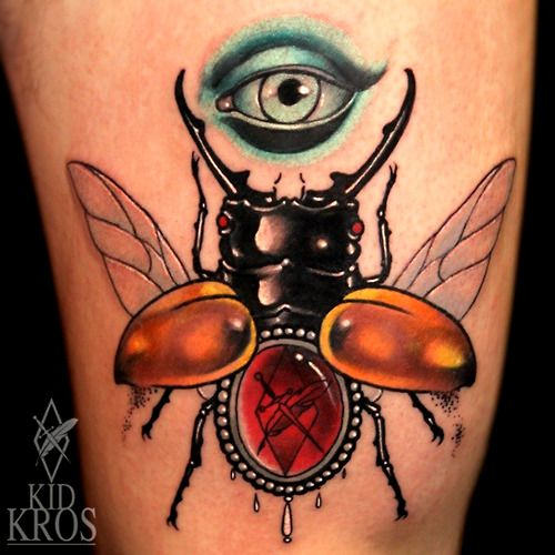 Beetle/jewel tattoo- Kid Kros