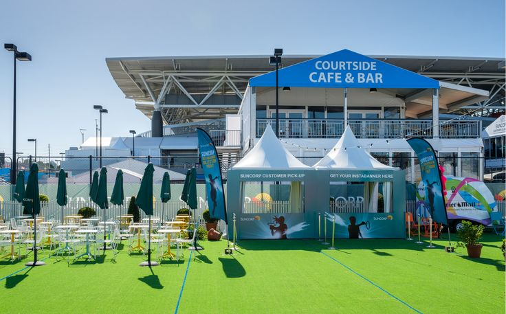 Sporting Event Signage, Marquee and Furniture by Moreton Hire Australia