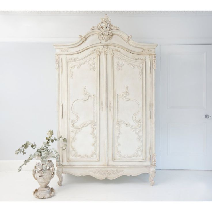 Delphine Distressed Shabby Chic Armoire | French Armoire