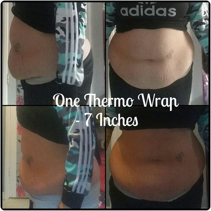 1 Wrap Result using Thermo Gel - 7 Inches Down! Acti-Labs Wrap Kit