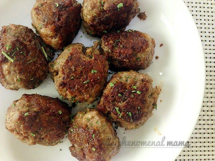 gluten-free + dairy-free + egg-free chia meatball recipe by The Phenomenal Mama