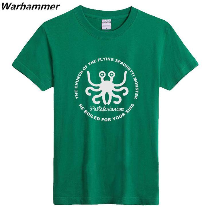 The Flying Spaghetti Monster Logo Printed T shirt Game Club Mens T shirts Fashion 2017  Shirts O-neck Short Sleeve Loose Top Tee