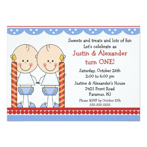 224 best Twins Birthday Party Invitations images – Twins 1st Birthday Invitations