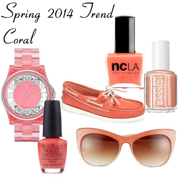 Spring 2014 Trend - Coral Accessories and Nail Polish via @All Lacquered Up