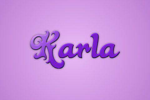 Resultado de imagen para nombre de karla en letra cursiva