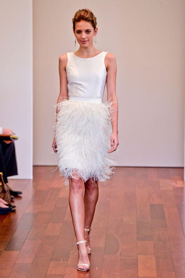 20 Gorgeous Short Wedding Dresses - Short Designer Wedding Gowns - Elle