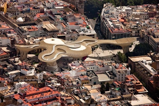 The 5 Finalists for the Mies van der Rohe Award 2013: Metropol Parasol by J. Mayer H, Seville, Spain, 2011, photography © Fernando Alda.